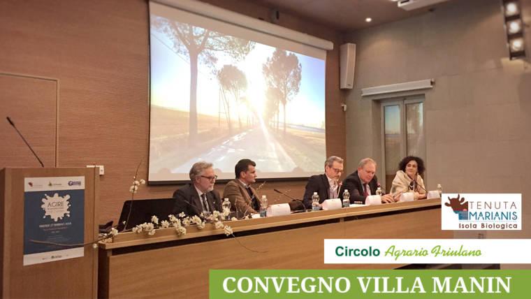 """Convegno Villa Manin – """"Agire in un'agricoltura che cambia"""""""