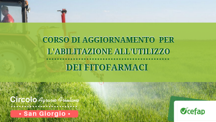 Rinnovo abilitazione all'utilizzo di fitofarmaci • San Giorgio