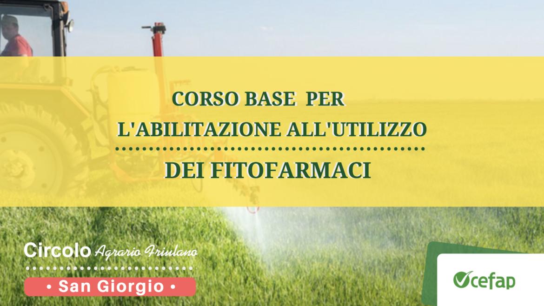 Corso per l'abilitazione all'utilizzo di fitofarmaci • San Giorgio